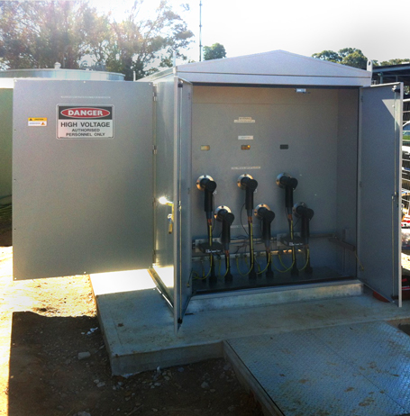 A NOJA Power GMK Installed in NSW – HV Cable Connection Compartment
