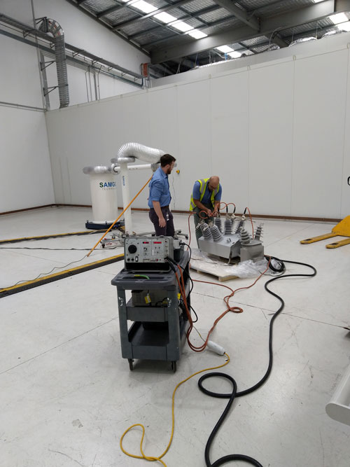 NOJA Power's test laboratory with Factory Acceptance Testing (FAT) capability