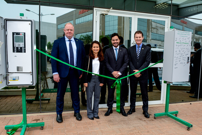 Left to Right – Neil O'Sullivan, Group Managing Director NOJA Power, Quynh Anh Le, Group Finance Director NOJA Power, Bruno Kimura, Managing Director NOJA Power Brazil and Greg Wallis, Consul General for Australia in Brazil
