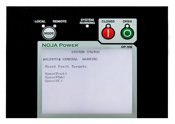 Close Up of the NOJA Power RC Controller HMI Interface Panel