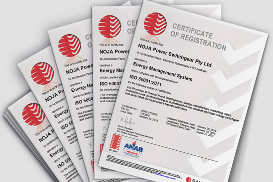 ISO 50001 Certificate of Registration