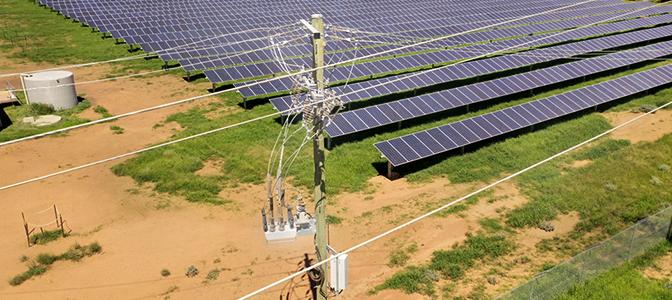 NOJA Power OSM Recloser Solar Farm Installation