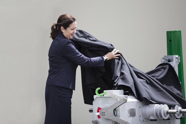 Queensland Premier Annastacia Palaszczuk unveiling the VISI-SWITCH®