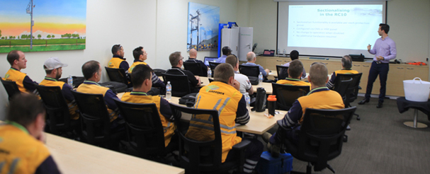 Martin van der Linde, Sales Engineer at NOJA Power leads training session