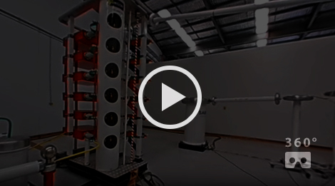 NOJA Power 600kV Impulse Laboratory in VR 360°