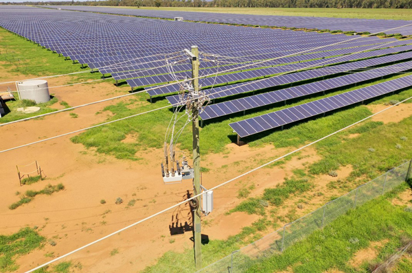 A NOJA Power OSM Recloser as the point of connection for a Solar Farm in Australia.