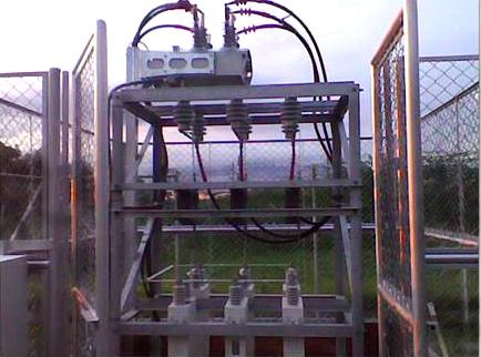 NOJA Power Recloser Installed on Outdoor Capacitor Bank
