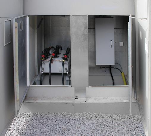NOJA Power 310 series recloser's DIN taper dead break elbow installation