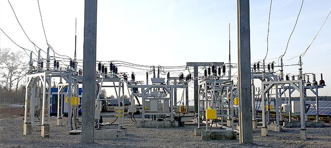 NOJA Power Recloser in Substation