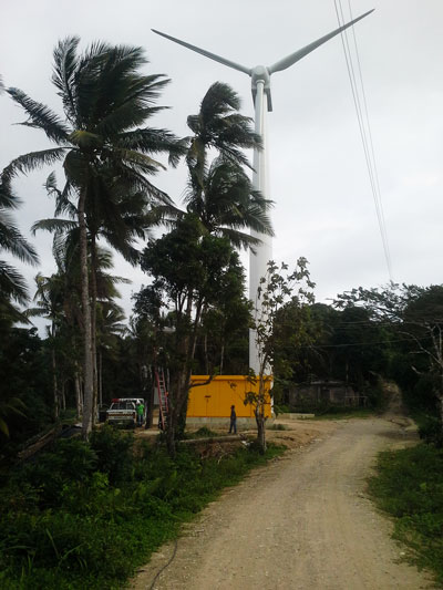 The 300kW Wind Turbine in Romblon, Philippines.